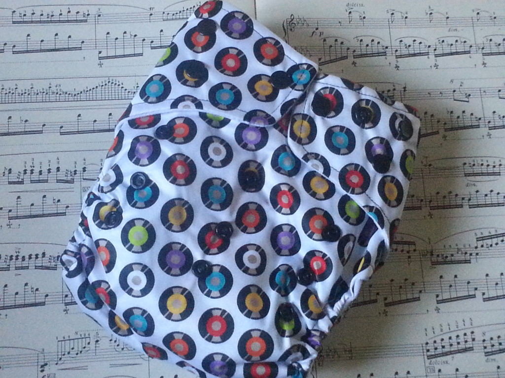 Musically inspired cloth nappy!