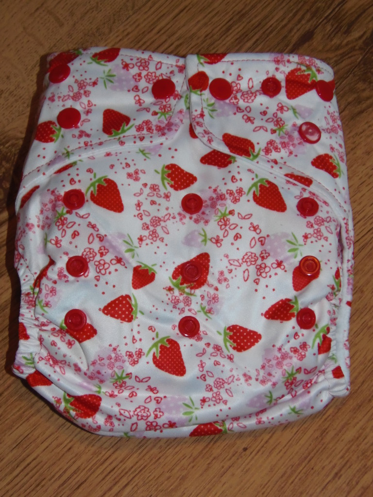 Oh so sweet! Strawberry Print Re-usable Nappy