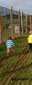 Boys outdoors