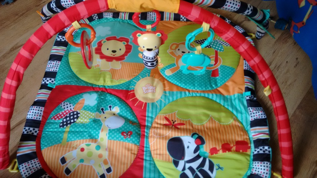 The colourful Bright Starts Baby Gym