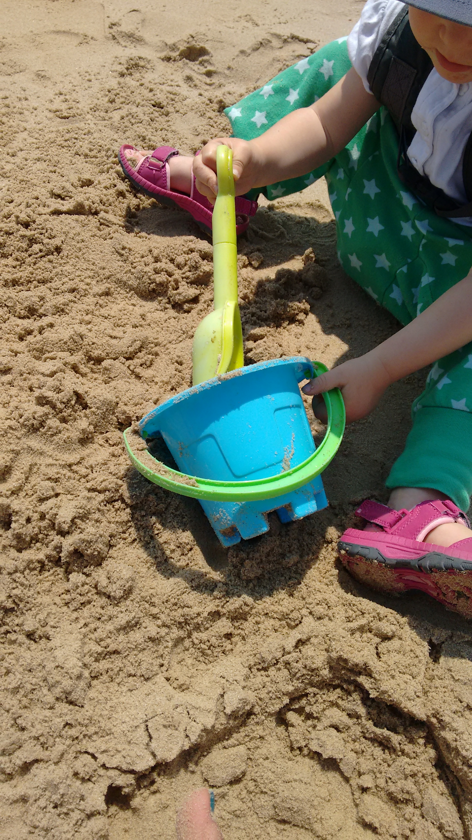 Frugi Organic Trousers on beach