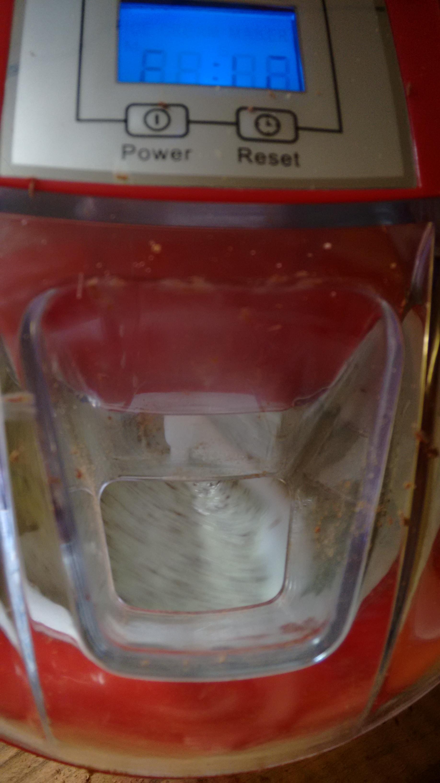 Ice cream thickening up in the Savisto Ice Cream Maker