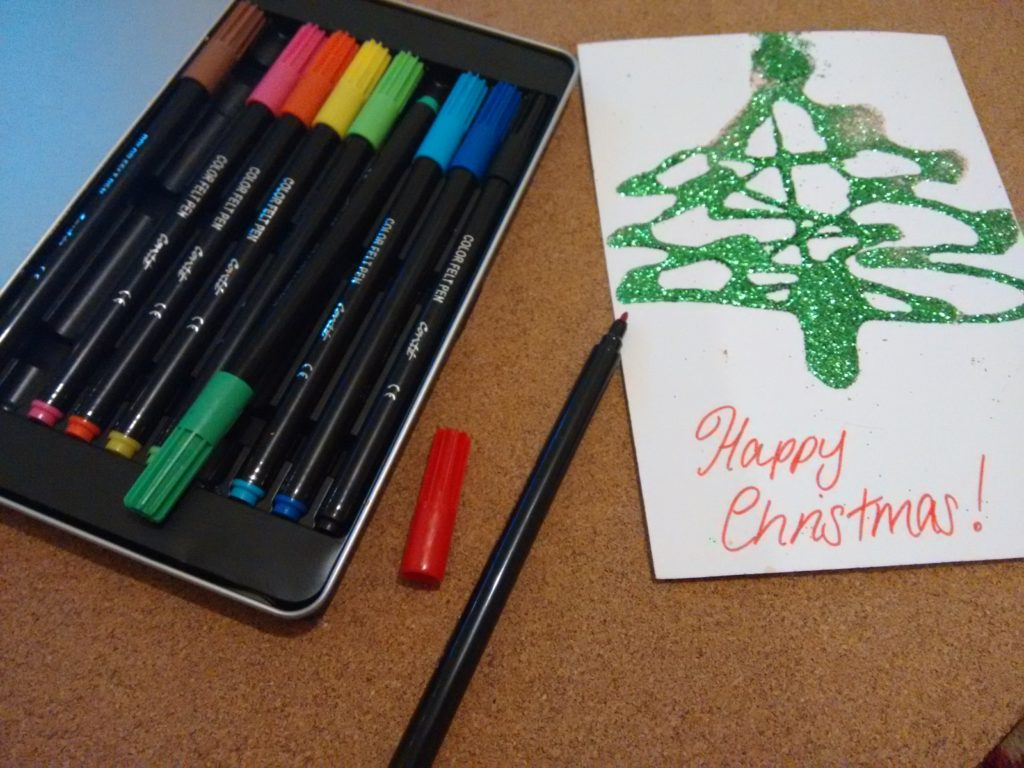 Christmas card for children to make