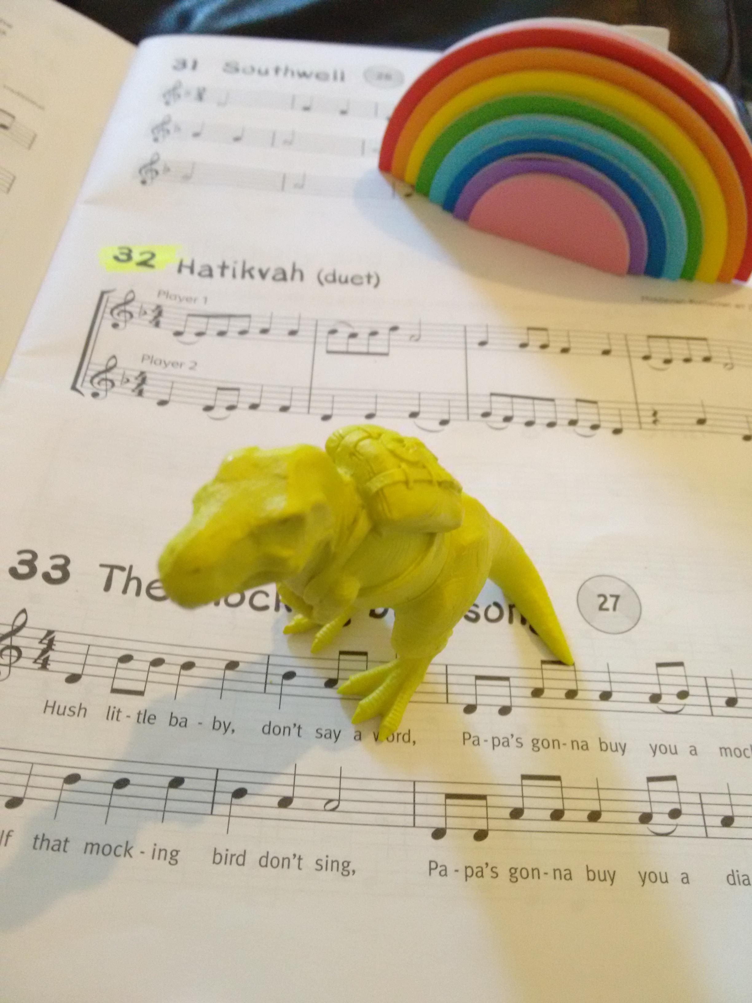 Dinosaur Highlighter and Rainbow Sticky Notes