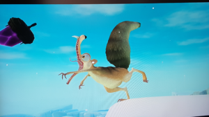 Scrat Trying to Catch a Crystal